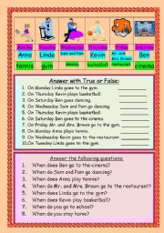 English Worksheets: Look at the pictures and work out!