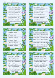 English Worksheets: questions for year 1