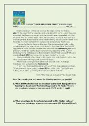 English Worksheet: The Way Up to Heaven, by Roald Dahl