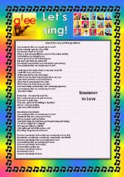 English Worksheet: GLEE SERIES � SONGS FOR CLASS! S01E05 � FOUR SONGS � FULLY EDITABLE WITH KEY!