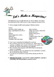 English Worksheets: Let�s Make a Magazine