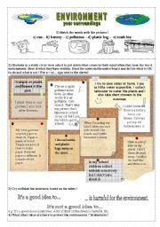 english worksheets environmental protection for children. Black Bedroom Furniture Sets. Home Design Ideas