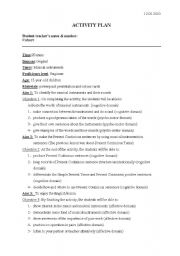 English Worksheet: lesson plan for musical instrument