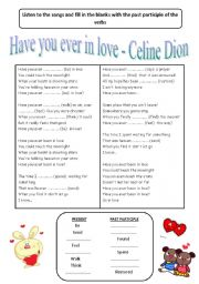 English Worksheet: Songs for Present Perfect Tense