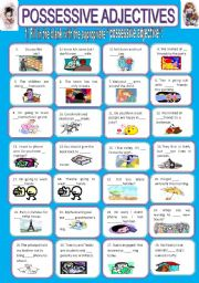 English Worksheets: Possessive adjective