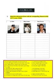 English Worksheets: a worksheet about the us tv series NCIS