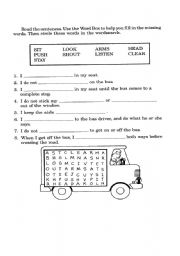 Printables Bus Safety Worksheets english worksheet bus safety