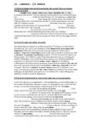 English Worksheet: 2nd year mid of term test 2 (language)