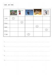 English Worksheets: LOOK AND WRITE part 1