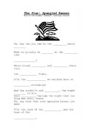 Worksheets Star Spangled Banner Worksheet star spangled banner worksheets