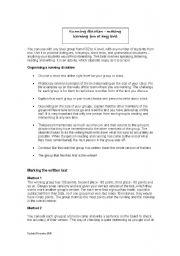 English Worksheet: Running dictation � making learning fun at any level