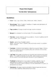 English Worksheets: Go Ask Alice
