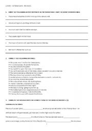 English Worksheets: LOWER - INTERMEDIATE REVISION