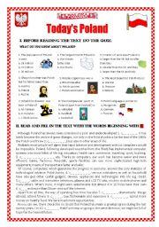 English Worksheet: Today�s Poland