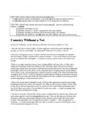 English Worksheet: Colons, Semi-colons, and Commas