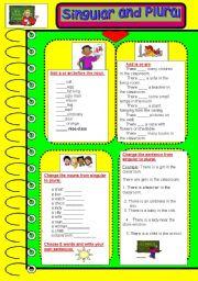 English Worksheet: Singular and Plural exercises