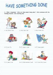 English Worksheet: Have Something Done