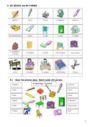 English Worksheets: Lexicon for special needs students (Part 2)