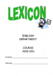 Lexicon  for special needs students (Part 1)