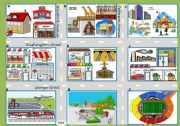 English Worksheets: Asking for directions � there be, prepositions, directions [map / boardgame + 4 tasks + 24 cards + 4 suggestions for the use of the ws] ((4 pages)) ***editable