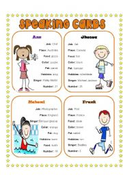 English Worksheet: Speaking cards 2(4)