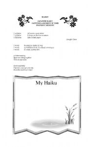 English teaching worksheets: Haiku poems