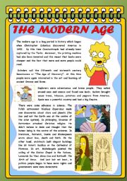 English Worksheet: THE MODERN AGE FOR CHILDREN