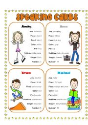 English Worksheets: Speaking Cards 3 (4)