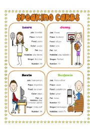 English Worksheets: Speaking Cards 4 (4)