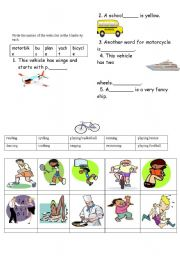 English Worksheets: yazýlý