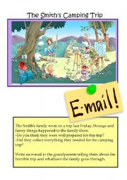 English Worksheet: The Smith�s Camping trip