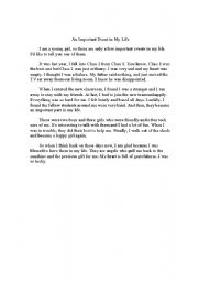 English Worksheets: event