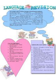 English Worksheets: Language Revision