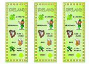 English Worksheet: Countries Bookmark 3 � Ireland