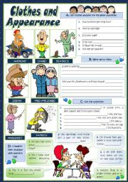 English Worksheets: CLOTHES & APPEARANCE