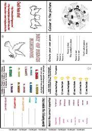 English worksheet: Peace Day Mini Book
