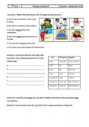 English Worksheets: Module 4 ,section 3