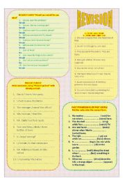 English Worksheets: REVISION