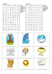 English Worksheets: Does a kangaroo have a mother, too?