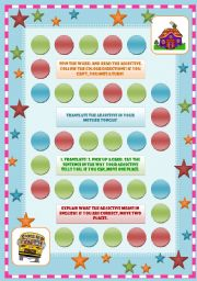 English Worksheet: Board game: Personality Adjectives