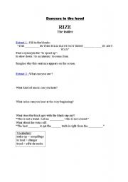 English Worksheets: Rize the trailer
