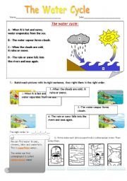 English Worksheet: The Water Cicle