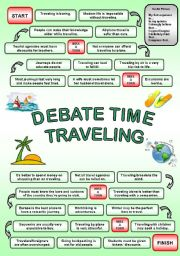 English Worksheets: DEBATE TIME TRAVELING