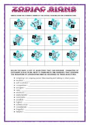 English Worksheets: ZODIAC SIGNS