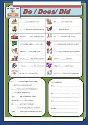 English worksheet: Do / Does / Did