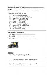 English Worksheets: REVISION GENERAL ENGLISH