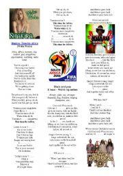 English Worksheet: Shakira - Waka waka (Football World Cup South-Africa 2010)