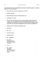 Business Letter Worksheets