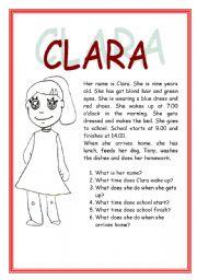 English Worksheets: CLARA