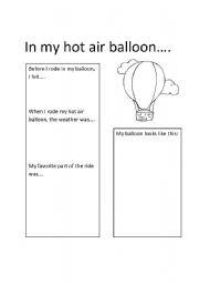 English Worksheets: Designing a hot air balloon
